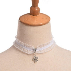 Blessume Gothic Lace Necklace White