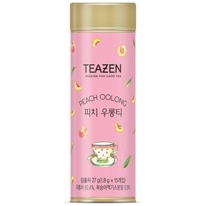 TEAZEN Korean Blended Sweet Peach Flavor Oolong Tea, 27g