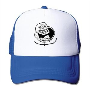 Unisex Meme Forever Alone Feliz Funny Figure Adjustable Mesh Caps Cool Snapback Hat