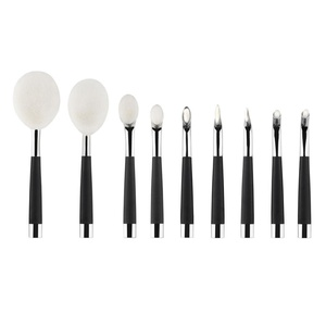 Sunfei 9Pcs Makeup ToothBrush Cosmetic Foundation Powder Brushes (Silver)