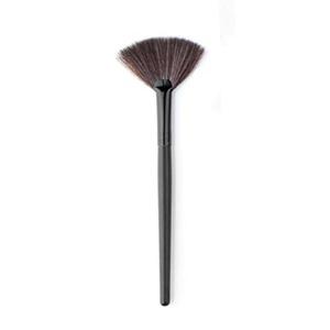 Hunputa 1PC Fashion Makeup Fan Blush Face Powder Foundation Cosmetic Brush (Black)