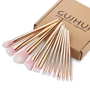 Sunfei 12PCS Make Up Foundation Eyebrow Eyeliner Blush Cosmetic Concealer Brushes (Rose Gold)