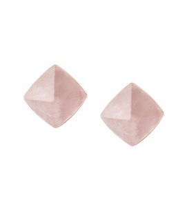 Michael Kors MKJ5241 791 Pyramid Blush Rush Rose Gold Tone Pink Crystal Stud Earrings