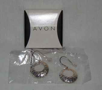 Avon Sterling Silver Hammered Earrings