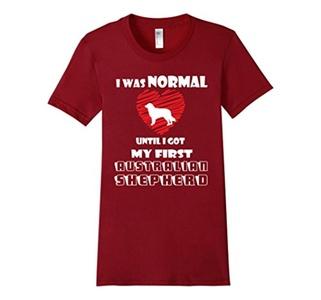 Women's Got My Australian Shepherd T-Shirt Large Cranberry