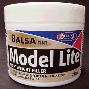 Model Lite Balsa Tint Lightweight Filler Non-Shrink by DELUXE MATERIALS