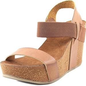 Mia Java Women US 7.5 Brown Wedge Sandal