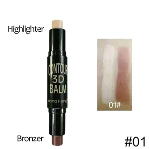 YABINA 2 in 1 Complexion+Embellish Highlighter and Shimmer Stick Concealer Bronzer Face Makeup (01)