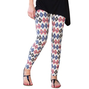 OVERMA Women Skinny Tribal Printed Stretchy Pants Leggings (S)
