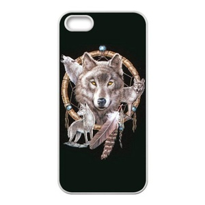 super shining day Wolf Dream Catcher Special Apple iPhone 5/5S TPU Material Durable Back Case