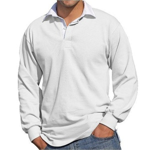 Front Row Long Sleeve Rugby Shirt , White, Large by Front Row