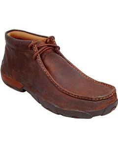 Twisted X Men's Driving Lace-Up Moccasin Shoes Round Toe Copper 9 D(M) US by Twisted X