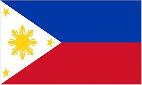 Philippines 3' X 2' 3ft x 2ft Flag With Eyelets Premium Quality by 3Ft x 2Ft Flag