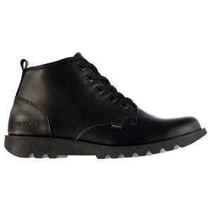 Mens Kickers Hisuma Boot Shoes Black Mono (UK 10 / US 11)