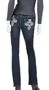 Earl Jean Womens Skinny Boot Jewel Jeans, Dark
