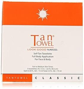 Tan Towel Full Body Classic Self-Tan Towelettes 5 Pack by TanTowel