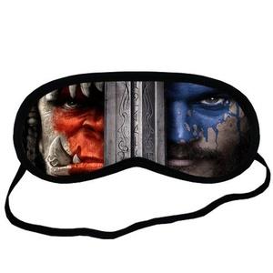 Custom Warcraft Movie Sleeping Mask, Comfortable Soft Cotton Sleeping Aids Eye Mask Cover Travel & Work Rest