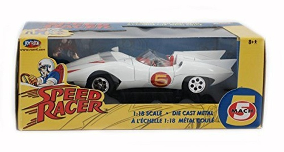 Joyride 1/18 Scale Diecast Metal Speed Racer Mach 5 Car by 1:18 Scale Diecast
