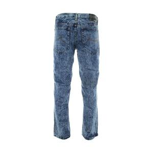 Rocawear - Men's Cloud Wash Rips Repair Motto Jeans - Dark Indigo