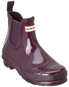Hunter Women's Original Gloss Boot, 5, Purple