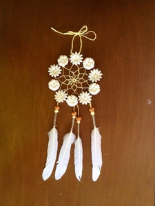 Floral White Daisy Dream Catcher