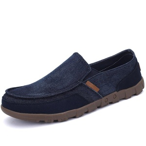 Bonways Men's Loafers Casual Slip-on Driving Shoes Navy 6.5 D(M) US