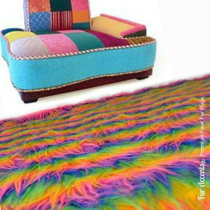 Super Soft Shag Style Area Rug - Plush Rainbow Shaggy Faux Fur - Rectangle - Designer Carpets by Fur Accents USA (5'x8')