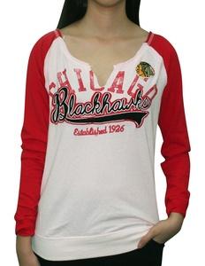 NHL CHICAGO BLACKHAWKS Team Logo Sweatshirt for Women (Vintage Look)