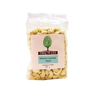 Tree of Life Cashew Nuts - Whole 500g - Pack of 2