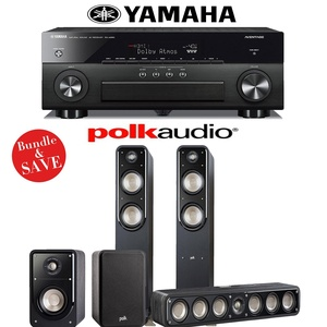 Polk Audio Signature S55 5.0 Home Theater System with Yamaha AVENTAGE RX-A860BL 7.2-Ch Network AV Receiver