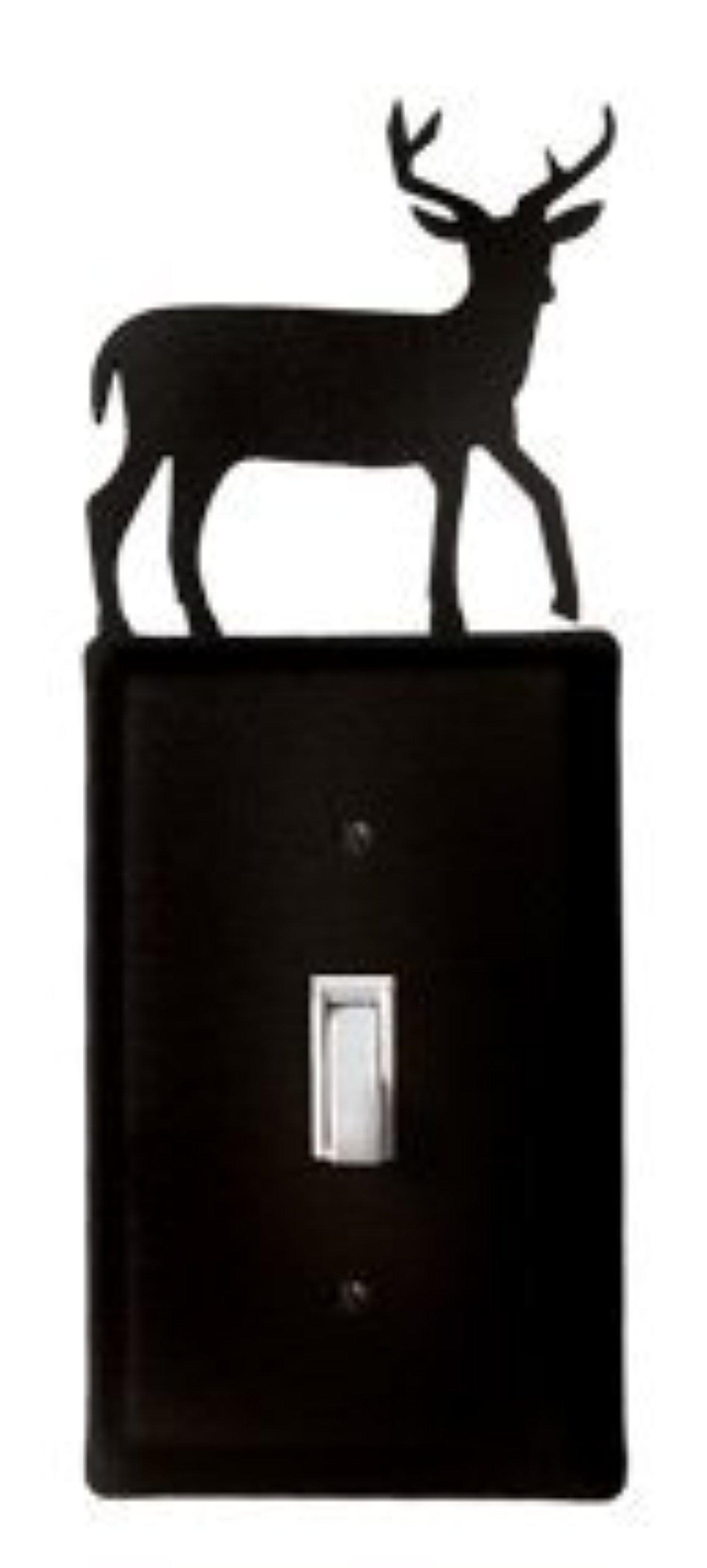 ES-3 Deer Single Switch Electric Cover by Village Wrought Iron