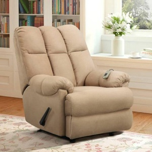 Padded Massage Rocker Recliner, Multiple Colors 2-zone massage with high/low Massaging located in seat and back settings and Lever release Product Dimensions (L x W x H): 41.00 x 36.00 x 40.00 Inches