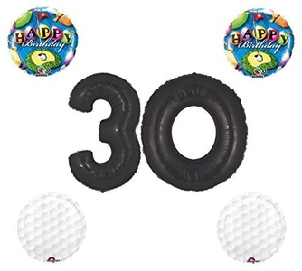 30th Birthday Golf Themed Balloon Set by Qualatex