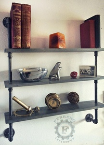 Steampunk Shelves Shelving Shelf Pipe Shelf Industrial Shelves Urban Chic Wall Decor