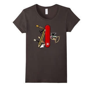 Women's Illustrator Survival Kit T-Shirt Small Asphalt