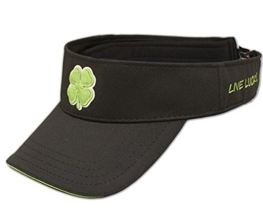 Black Clover BC VISOR #51v Mens Headwear-Black/White/Lime-One Size Fits All by Black Clover