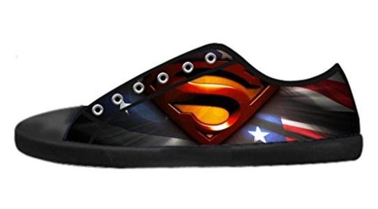 Custom Men's Low-Top Lace-up Rubber Sole Shoes Cool DC Hero Superman Logo Image Design-7M(US)