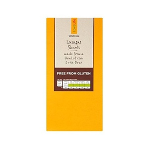 Gluten Free Lasagne Sheets Waitrose Love Life 250g - Pack of 2