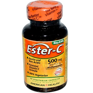 American Health, Ester-C, 500 mg, 60 Veggie Caps