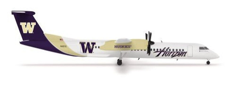 Herpa 1/200 DHC8-Q400 Horizon Air Washington Huskies (japan import) by Herpa 1/200 Scale Military