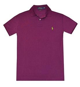 Polo Ralph Lauren Custom Fit Mesh Polo Shirt for Men Purple XXL