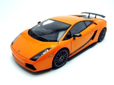 LAMBORGHINI GALLARDO SUPERLEGGERA DIECAST MODEL in BOREALIS / METALLIC ORANGE in 1:18 Scale by Auto Art by Auto Art Diecast Car Models