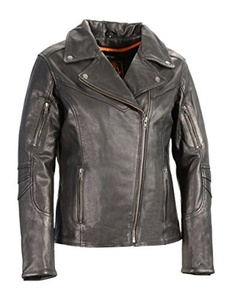 Milwaukee Leather Women's Vented Motorcycle Jacket (Black, XXX-Large) by Milwaukee Leather