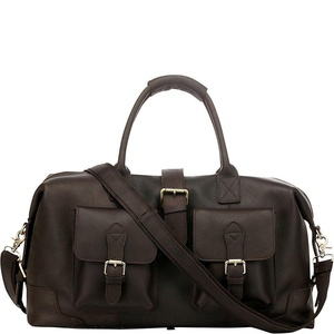 Vicenzo Leather Modesto Full Grain Leather Duffel Travel bag