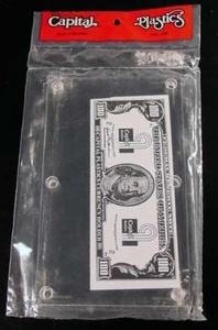 Modern Currency Bill Holder by Capital Plastics Modern Currency Bill Holder