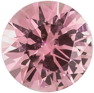 Faceted Precision Cut Pink Sapphire Stone, Round Shape, Grade A, 2.00 mm in Size, 0.04 Carats