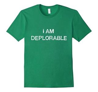 Men's I AM DEPLORABLE T SHIRT 3XL Kelly Green