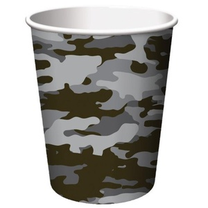 Operation CAMO Party Paper Cups Pkt 8 by Party Stuff 4U Operation Camo party