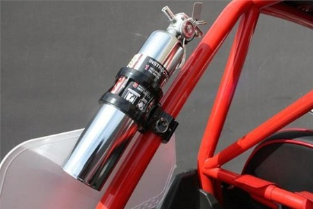 Dragonfire Racing Black Quick Release Fire Extinguisher Mount w/ 1.75 Clamps by Dragonfire