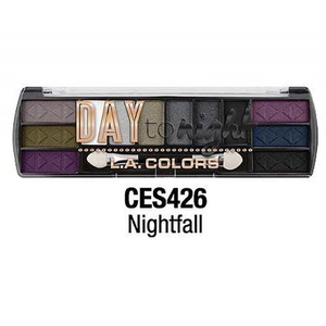 L.A. Colors Day to Night Eyeshadow Palette (CES426 Nightfall) by L.A. Colors